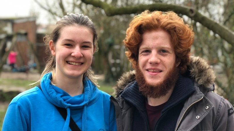 Anna Körner und Julius Schlichting, Organisatoren der Fridays-for-Future-Proteste in Bremen.