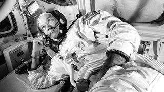 Michael Collins in der Raumkapsel
