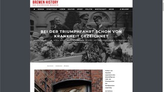 Screenshot der Website bremen-history.de