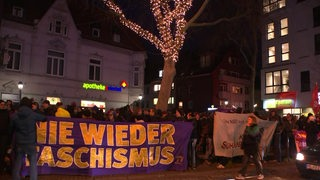 Eine Demonstration am Bremer Streintor